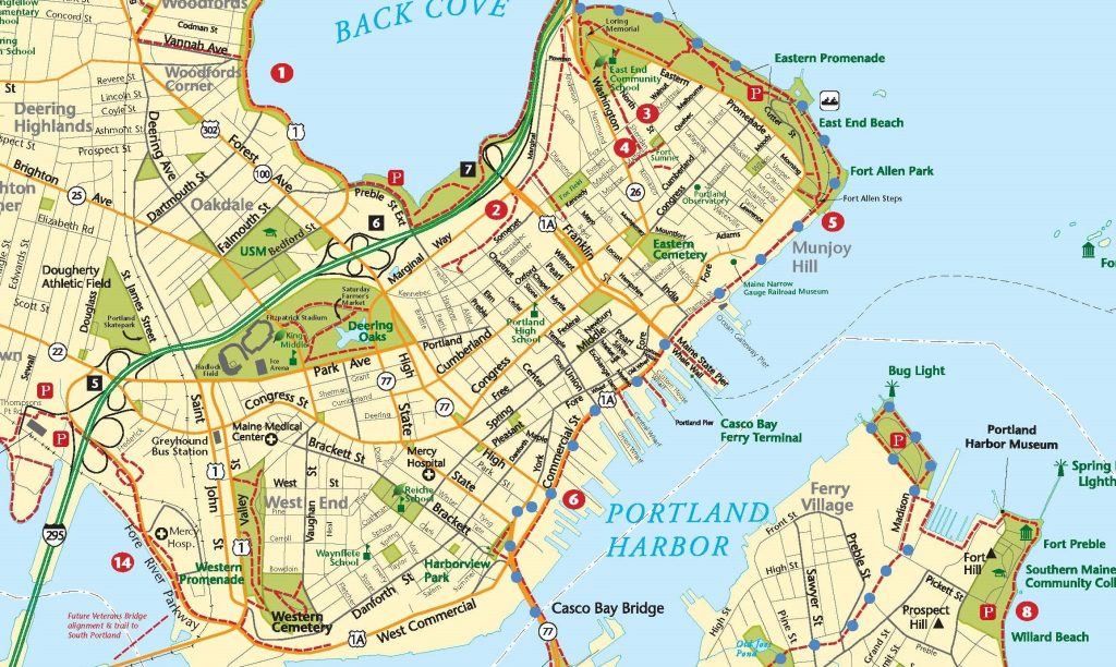 map of portland maine and surrounding areas Harborwalk Trail map of portland maine and surrounding areas