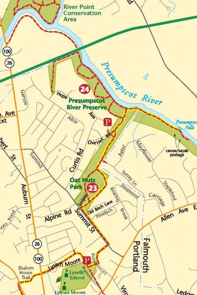 Porter Maine Map.Oat Nuts Park Trail Portland Trails