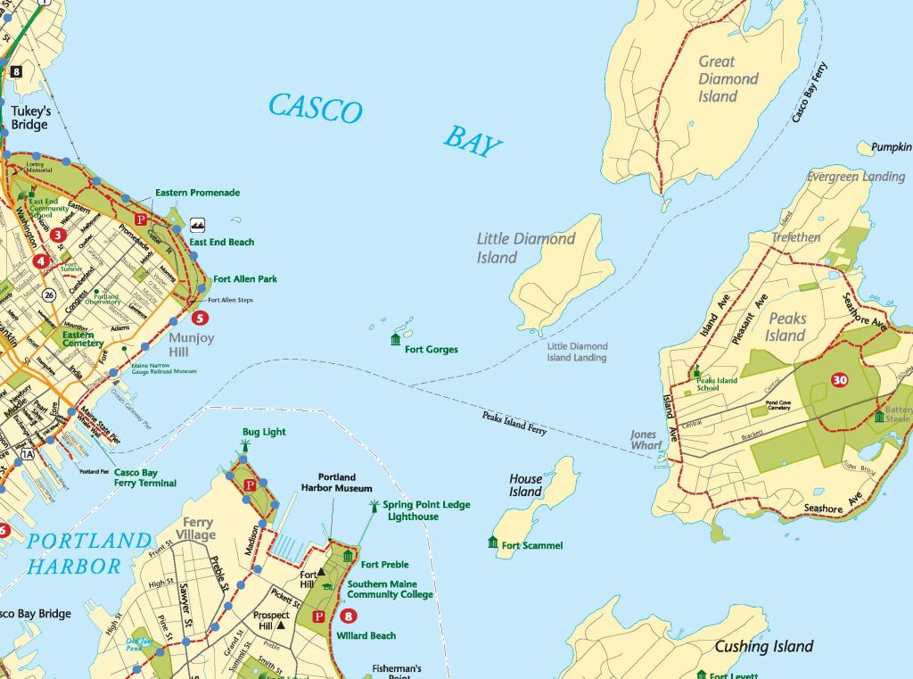 Peaks Island Maine Map Bnhspine