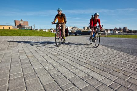 Bicycling on the Bayside Trail