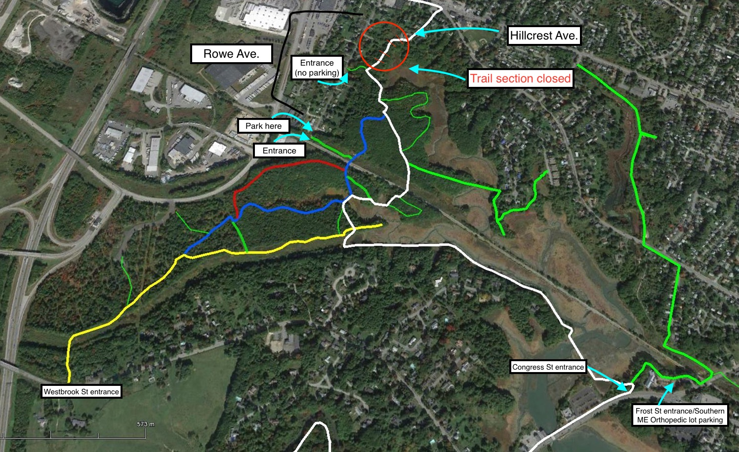 Sewer work closes Portland Trail access